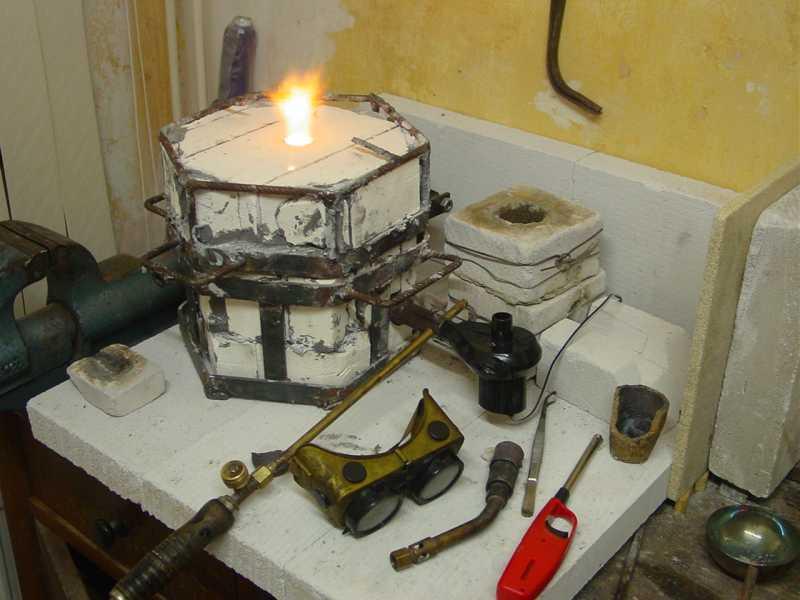 Home built propane furnace